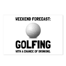 Weekend Forecast Golfing Postcards (Package of 8)