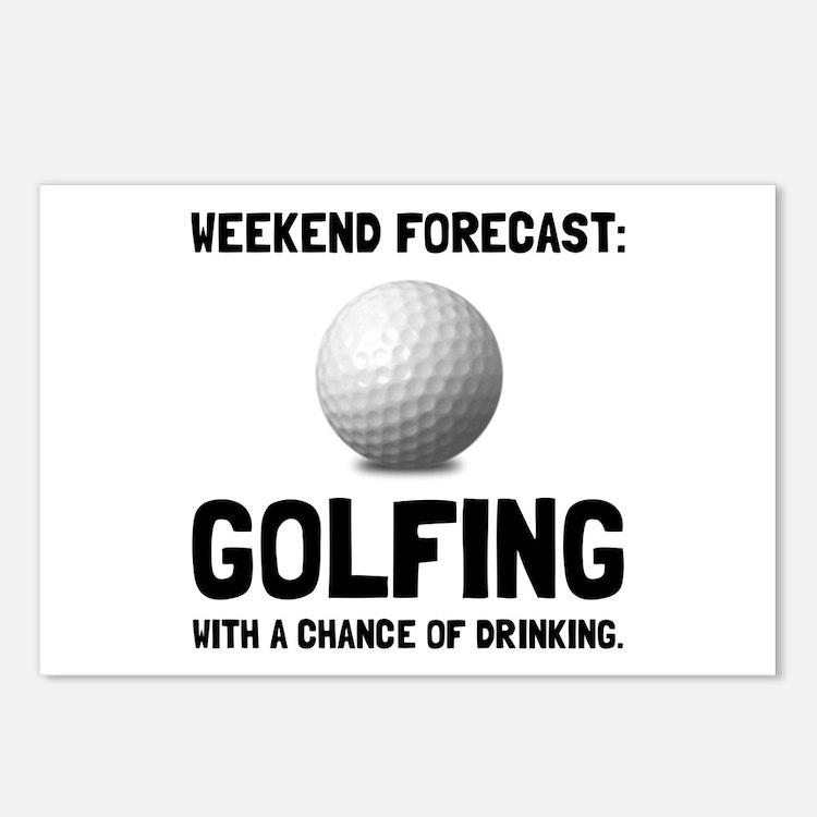 Weekend Forecast Golfing Postcards (Package of 8)