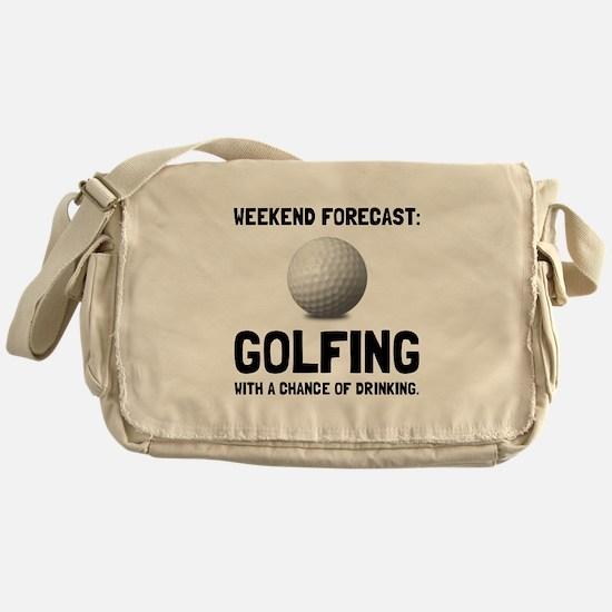 Weekend Forecast Golfing Messenger Bag