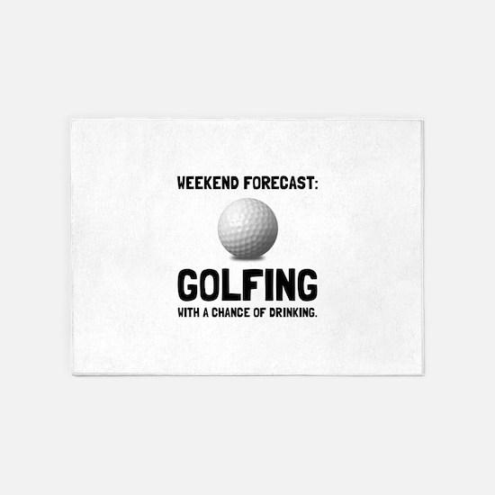 Weekend Forecast Golfing 5'x7'Area Rug
