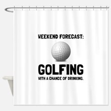 Weekend Forecast Golfing Shower Curtain