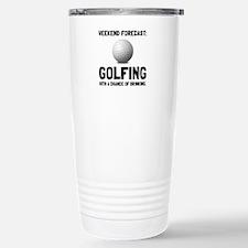 Weekend Forecast Golfing Travel Mug