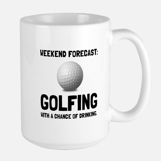 Weekend Forecast Golfing Mugs