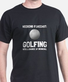 Weekend Forecast Golfing T-Shirt