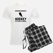 Weekend Forecast Hockey Pajamas