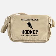 Weekend Forecast Hockey Messenger Bag