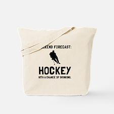 Weekend Forecast Hockey Tote Bag