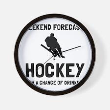 Weekend Forecast Hockey Wall Clock