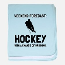 Weekend Forecast Hockey baby blanket