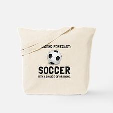 Weekend Forecast Soccer Tote Bag
