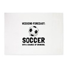 Weekend Forecast Soccer 5'x7'Area Rug