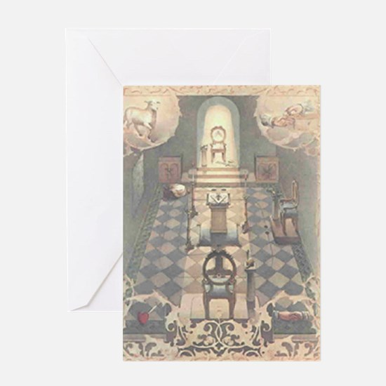 Cute Square and compasses Greeting Card