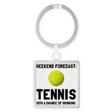 Weekend Forecast Tennis Keychains
