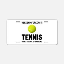 Weekend Forecast Tennis Aluminum License Plate