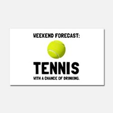 Weekend Forecast Tennis Car Magnet 20 x 12