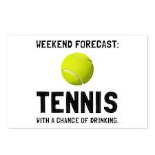 Weekend Forecast Tennis Postcards (Package of 8)