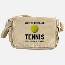 Weekend Forecast Tennis Messenger Bag
