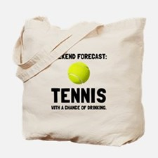 Weekend Forecast Tennis Tote Bag