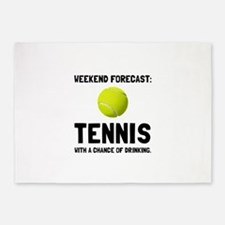 Weekend Forecast Tennis 5'x7'Area Rug