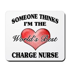 World's Best Charge Nurse Mousepad
