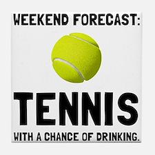 Weekend Forecast Tennis Tile Coaster