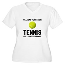 Weekend Forecast Tennis Plus Size T-Shirt