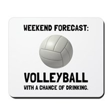 Weekend Forecast Volleyball Mousepad