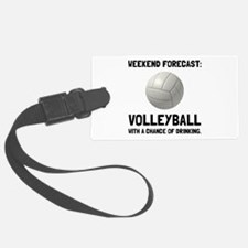 Weekend Forecast Volleyball Luggage Tag
