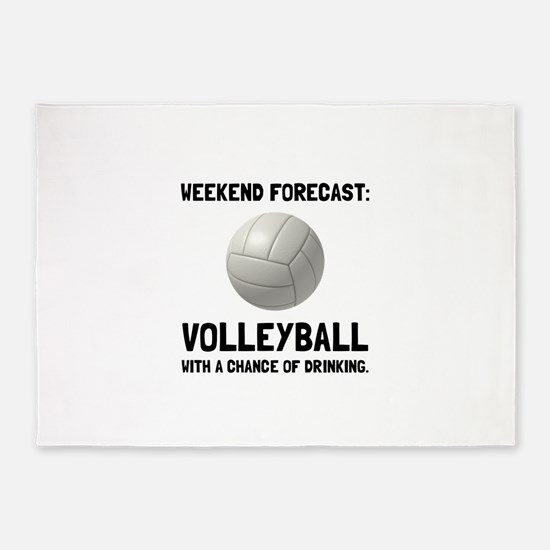 Weekend Forecast Volleyball 5'x7'Area Rug