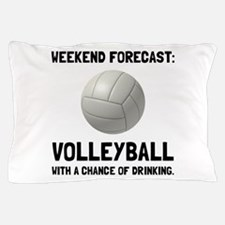 Weekend Forecast Volleyball Pillow Case
