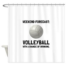 Weekend Forecast Volleyball Shower Curtain