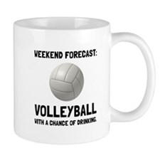 Weekend Forecast Volleyball Mugs