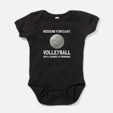 Weekend Forecast Volleyball Baby Bodysuit