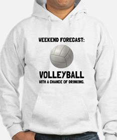 Weekend Forecast Volleyball Hoodie