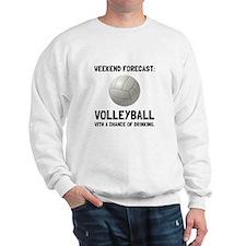 Weekend Forecast Volleyball Sweatshirt