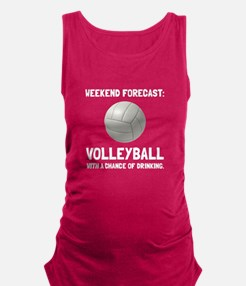 Weekend Forecast Volleyball Maternity Tank Top