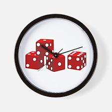 Game Dice Wall Clock