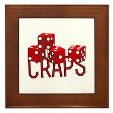 Craps Dice Framed Tile