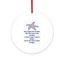 STAR LIGHT - STAR BRIGHT Ornament (Round)