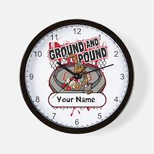 Custom Ground and Pound MMA Wall Clock