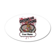 Custom Ground and Pound MMA Wall Decal