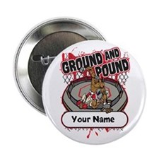 "Custom Ground and Pound MMA 2.25"" Button"