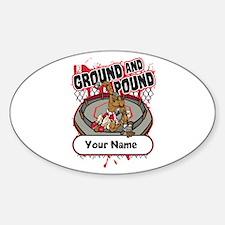 Custom Ground and Pound MMA Sticker (Oval)