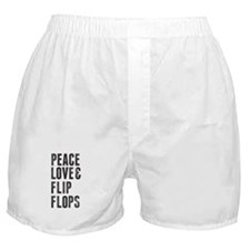 Peace Love and Flip Flops Stamp Boxer Shorts