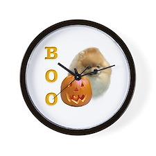 Pomeranian Boo Wall Clock
