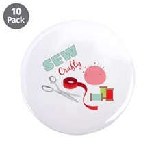 """Sew Crafty 3.5"""" Button (10 pack)"""