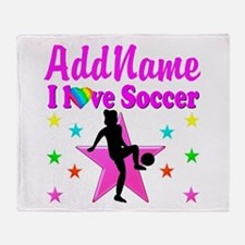 SOCCER PLAYER Throw Blanket