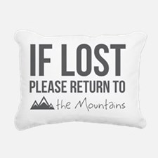 Return to the mountains Rectangular Canvas Pillow