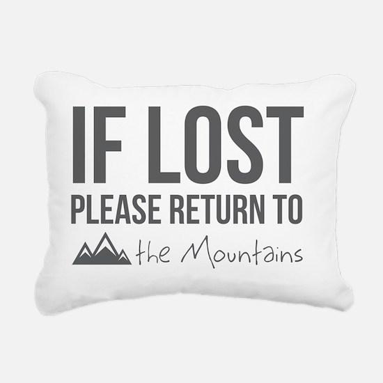 Return to the mountains Rectangular Canvas Pillow