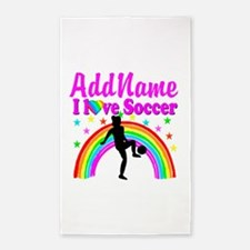 SOCCER PLAYER 3'x5' Area Rug